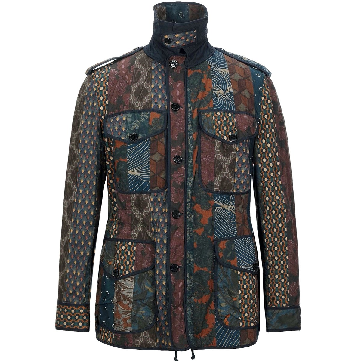Dries Van Noten Patchwork Print Safari Jacket.jpg