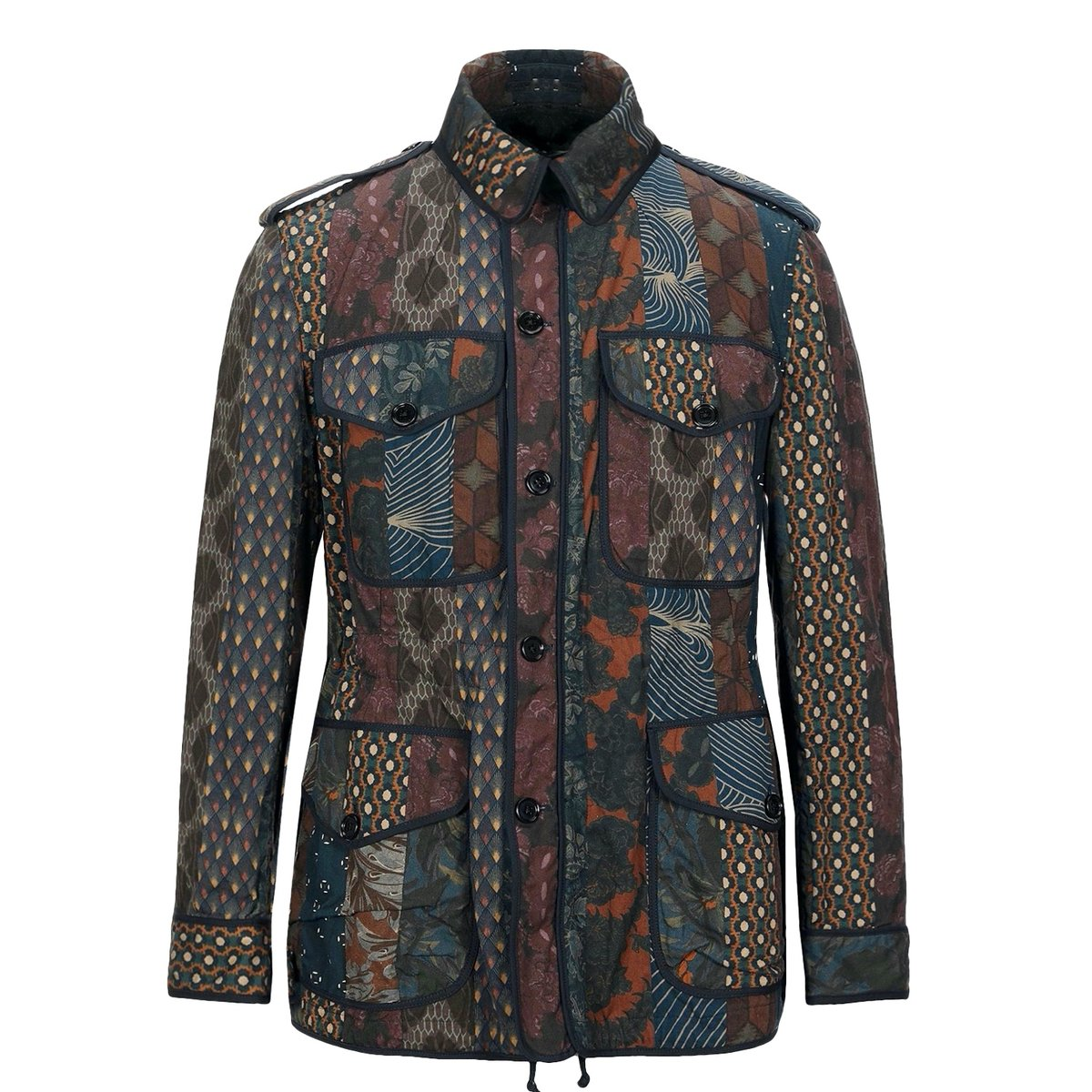 Dries Van Noten Patchwork Print Safari Jacket2.jpg
