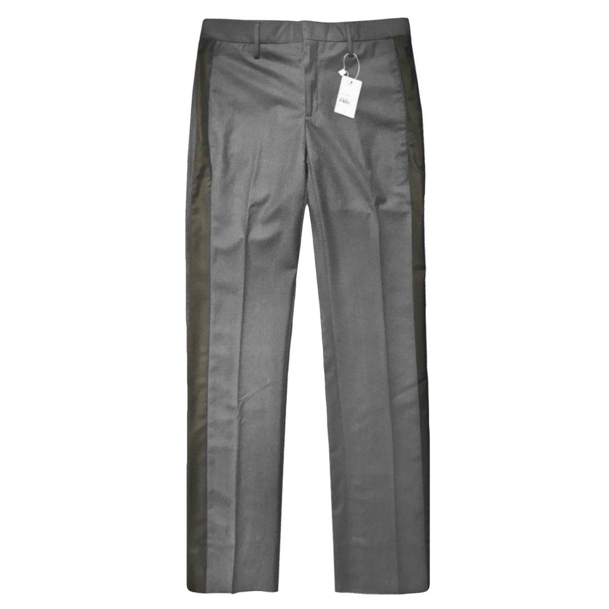 Eidos gray wool side band pants 2.jpg