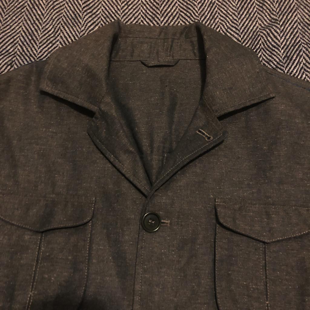 Eidos Ragosta olive silk:linen field jacket in size 54_6.jpg