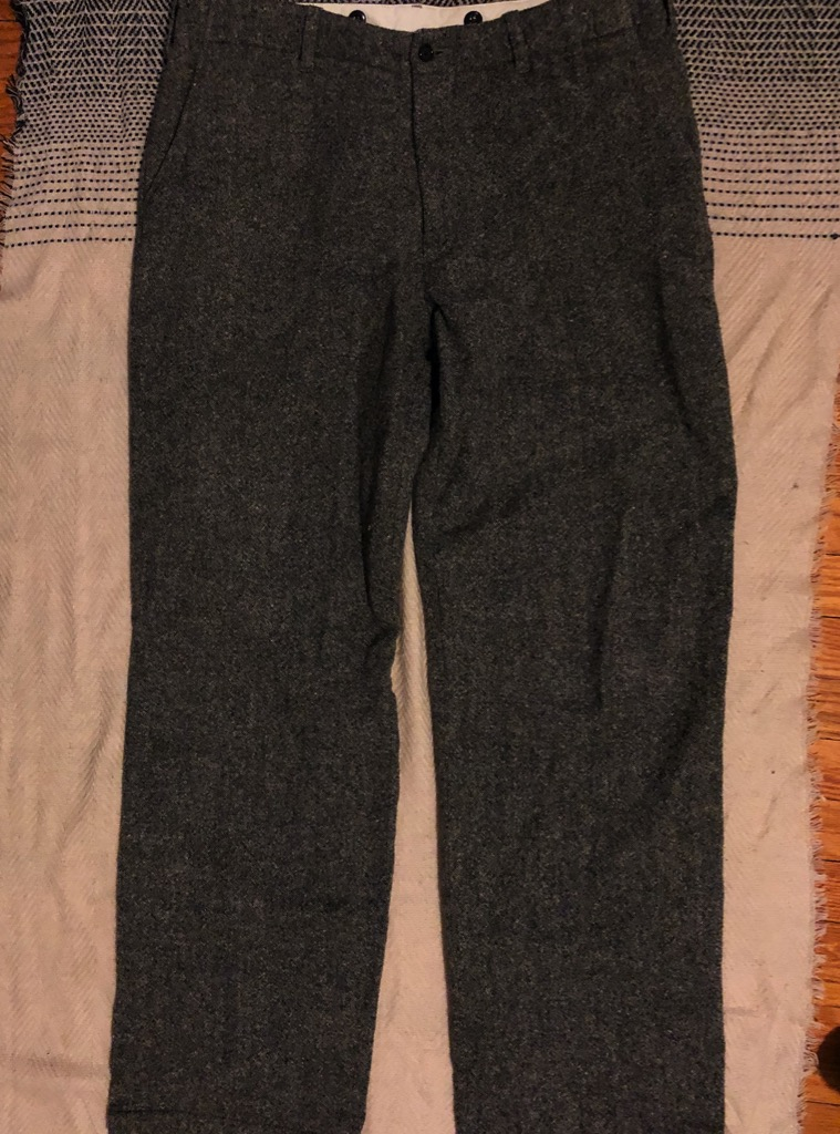 Engineered Garments thick wool winter pants in gray in size 34.jpg