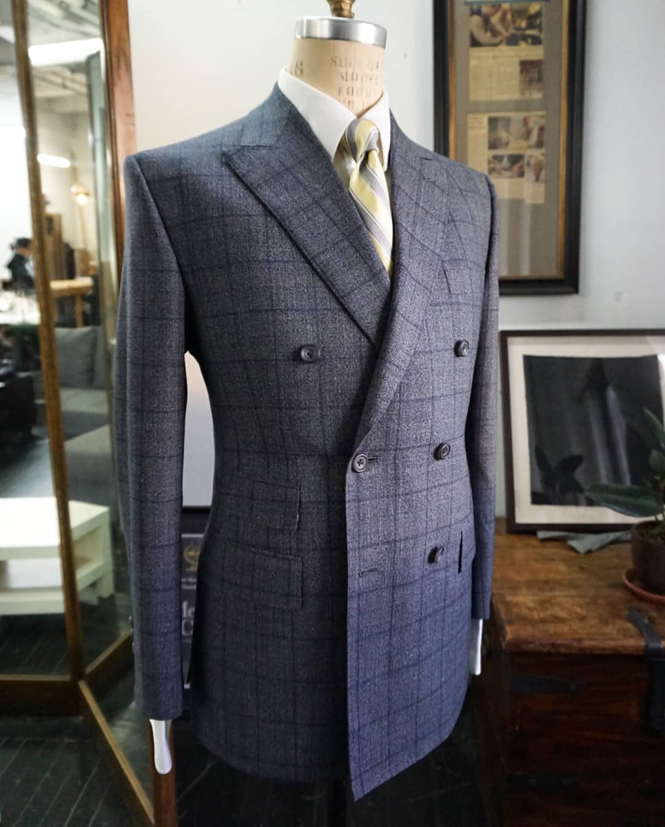 Genuardi Grey Windowpane Double-Breasted Suit.png