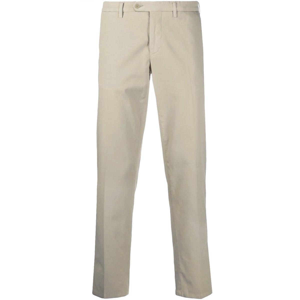 Gerani Tapered Beige Cotton Chino Pants.jpg