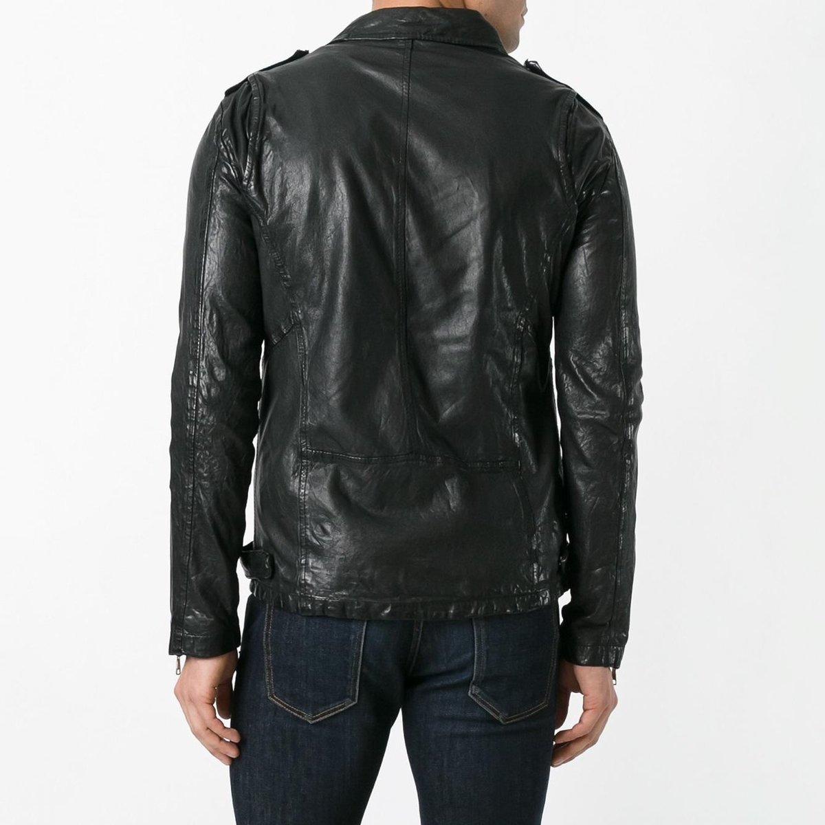 giorgio brato black leather biker jacket 3.jpg