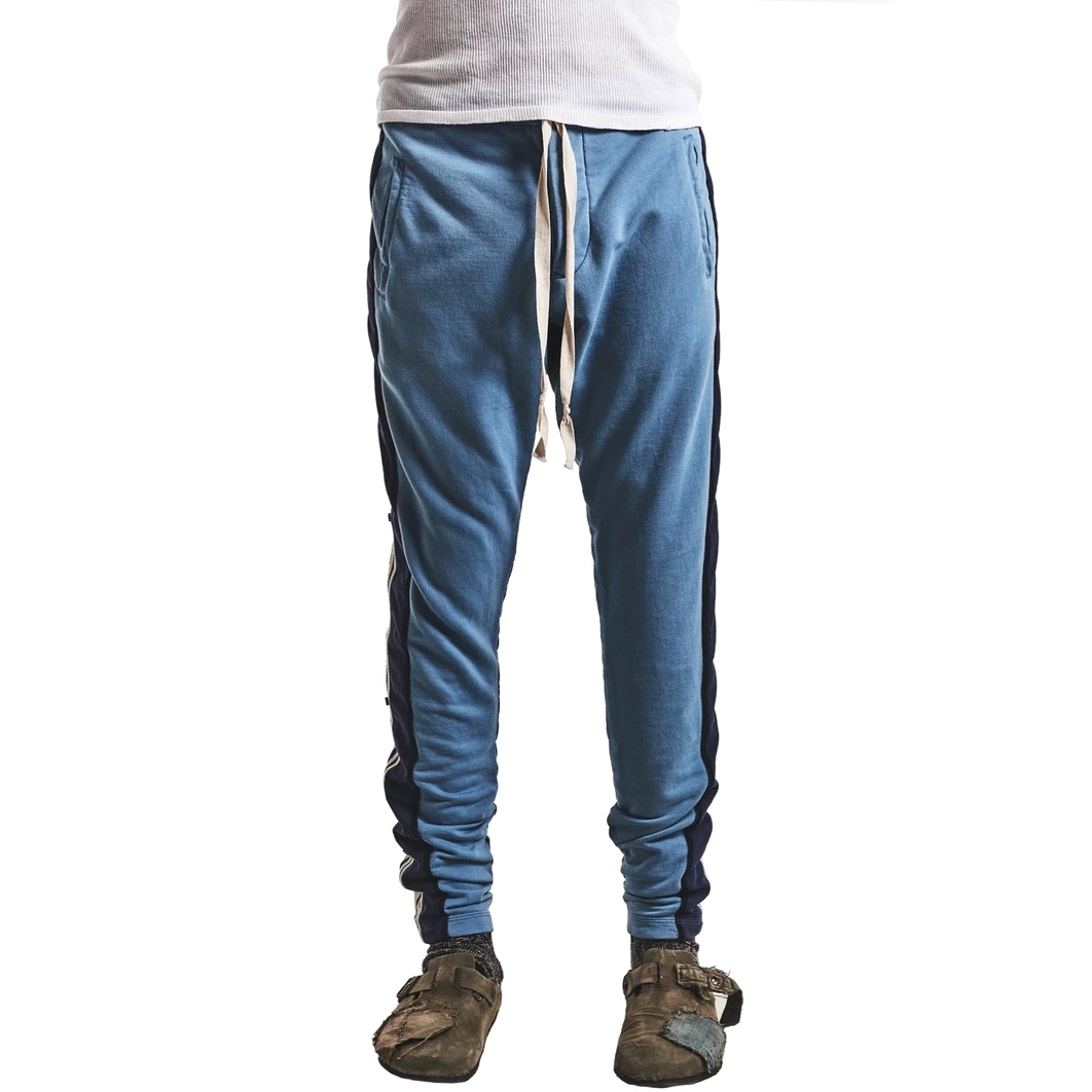 Greg Lauren Side Striped Drawstring Track Pants f.jpg