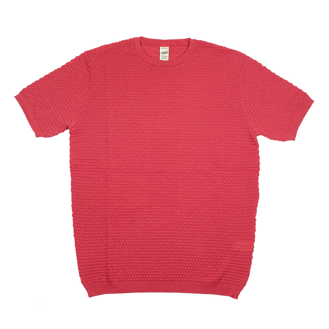 GRP Italy Spring Summer 2021 SS21 bubble stitch knit cotton tee (1).jpg