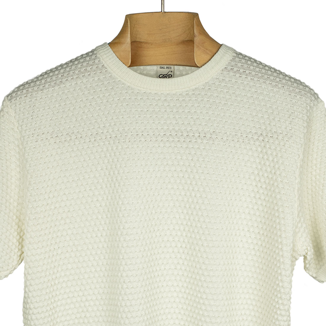 GRP Italy Spring Summer 2021 SS21 bubble stitch knit cotton tee (14).jpg