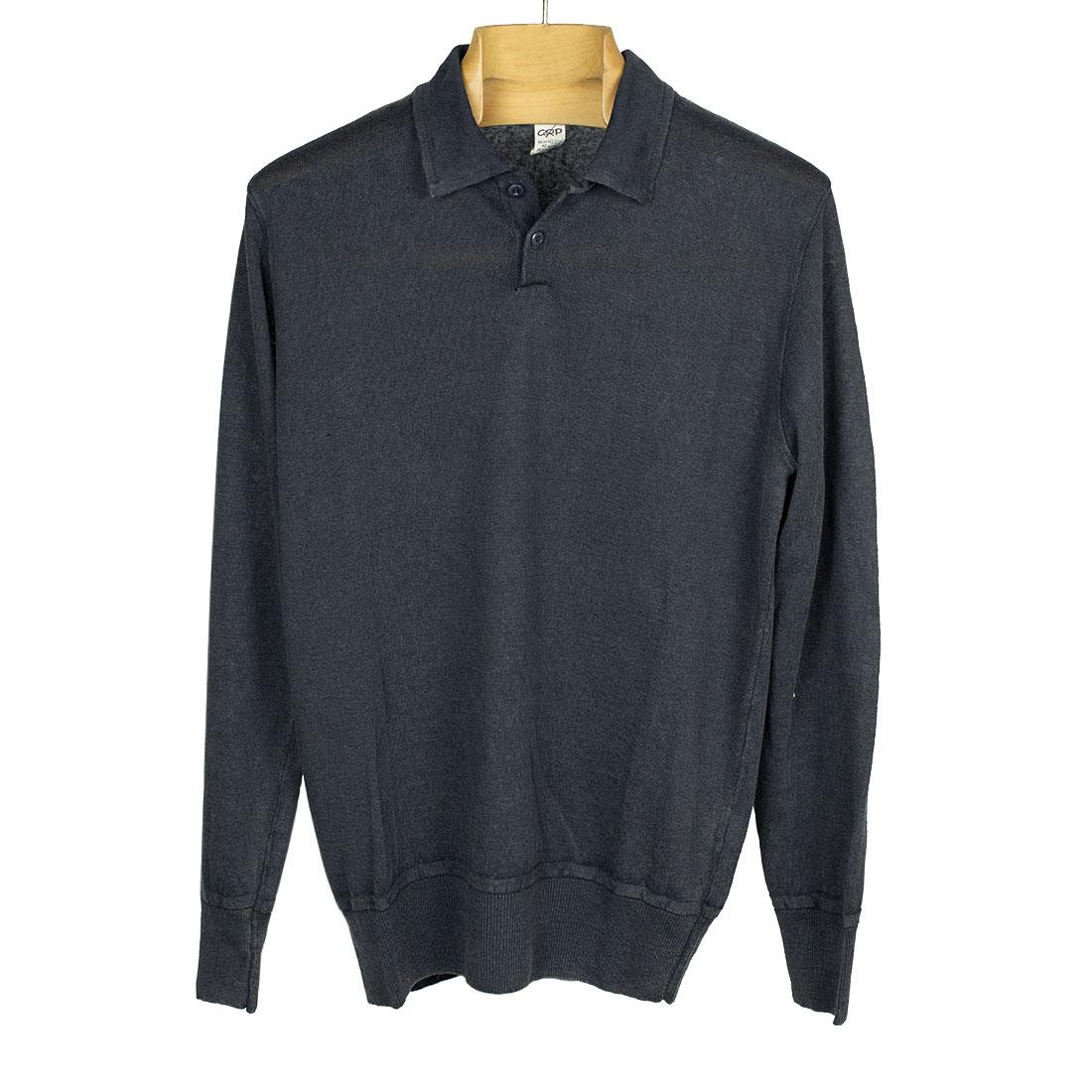 GRP Italy Spring Summer 2021 SS21 knit linen long sleeve polo (6).jpg