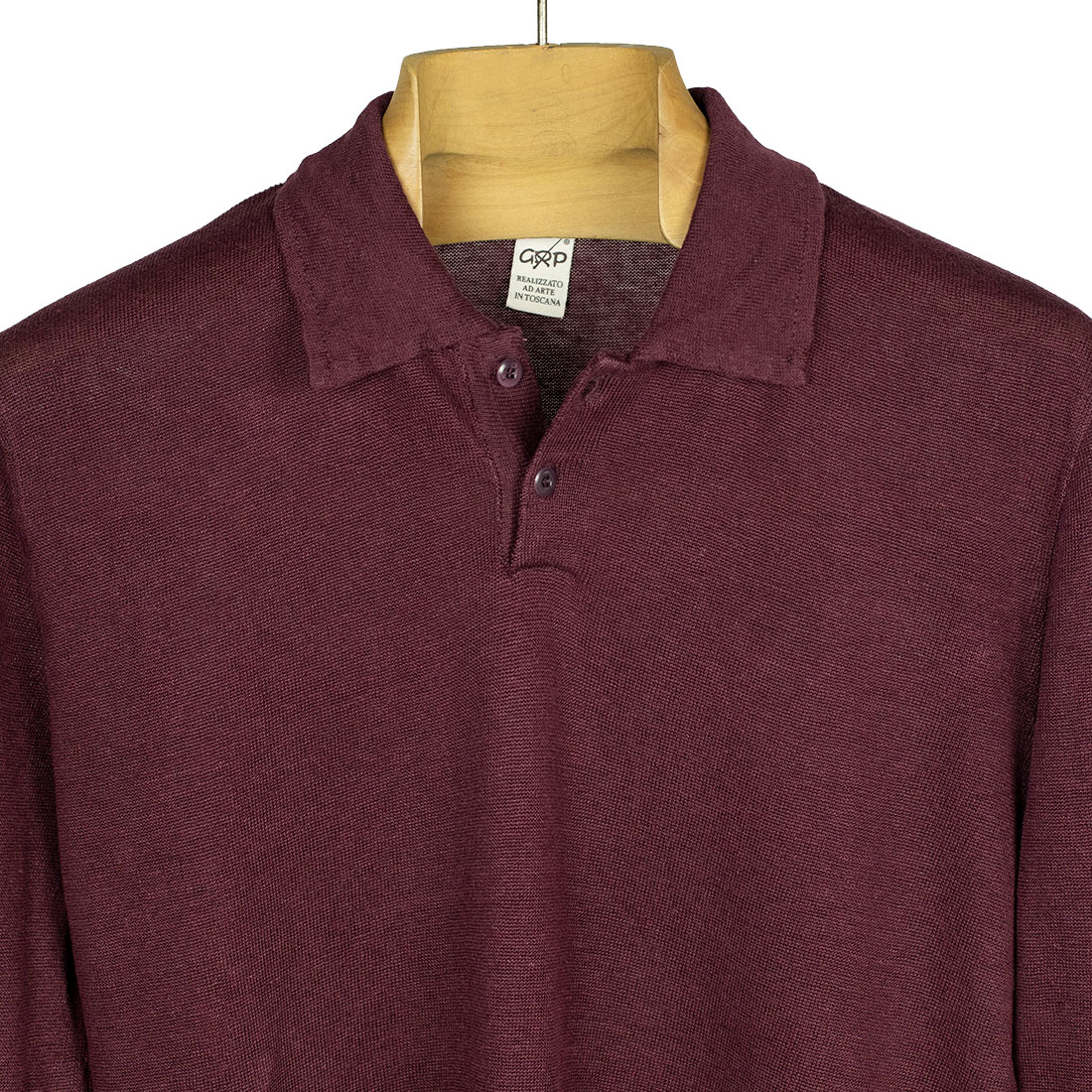 GRP Italy Spring Summer 2021 SS21 knit linen long sleeve polo shirt (7).jpg