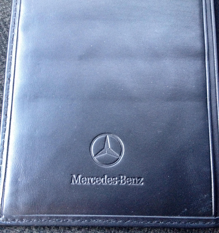 black leather travel wallet by mercedes benz slim folio. Black Bedroom Furniture Sets. Home Design Ideas