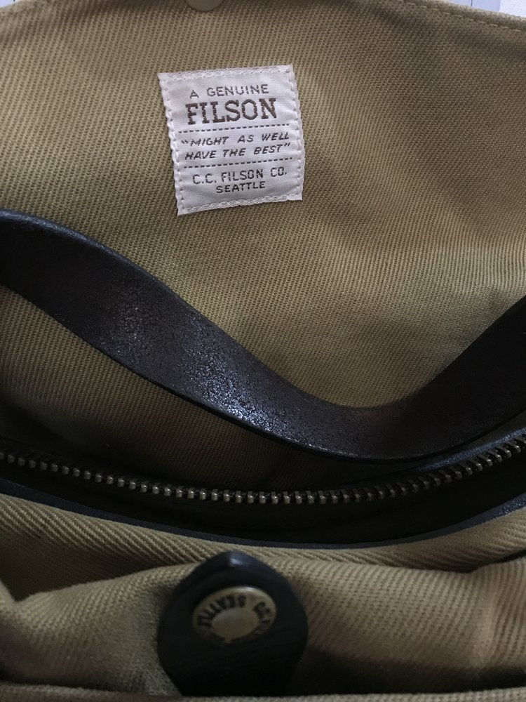 Filson Bag Thread  With Pictures  89d5c04653be3