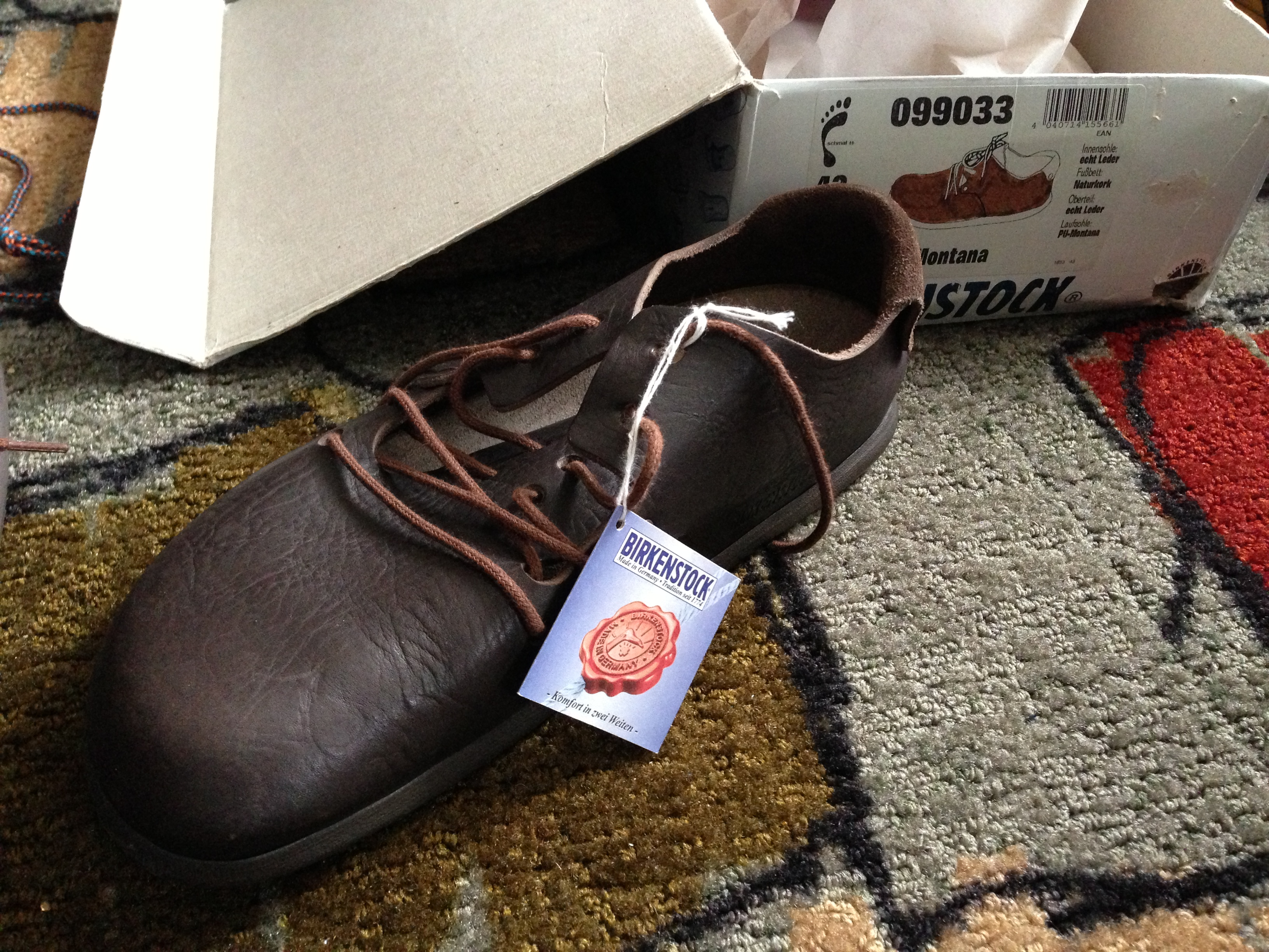 Birkenstock montana special edition emboss leather japan only.