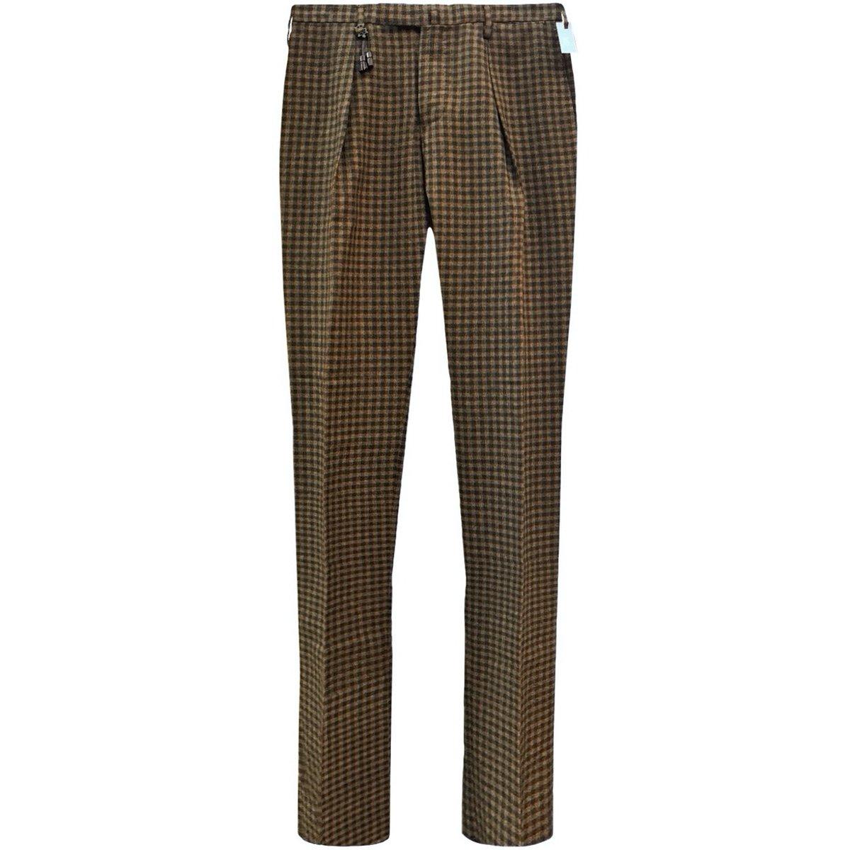 Incotex Slack Slim Fit Brown Check Wool Pants copy.jpg
