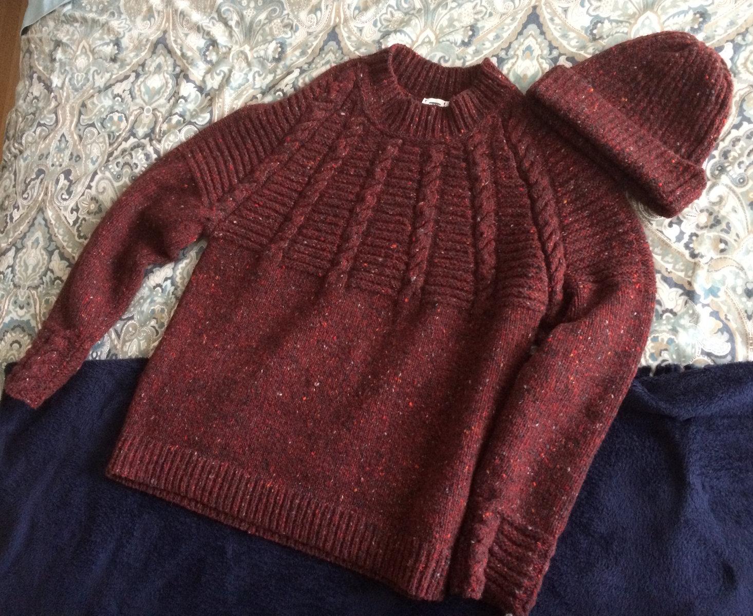Inis Meáin-18E Red Sweater & Beanie.jpg