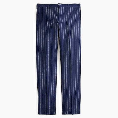 J.Crew Ludlow slim-fit pant with bouclé pinstripes - Navy Stripe 31x30.jpg