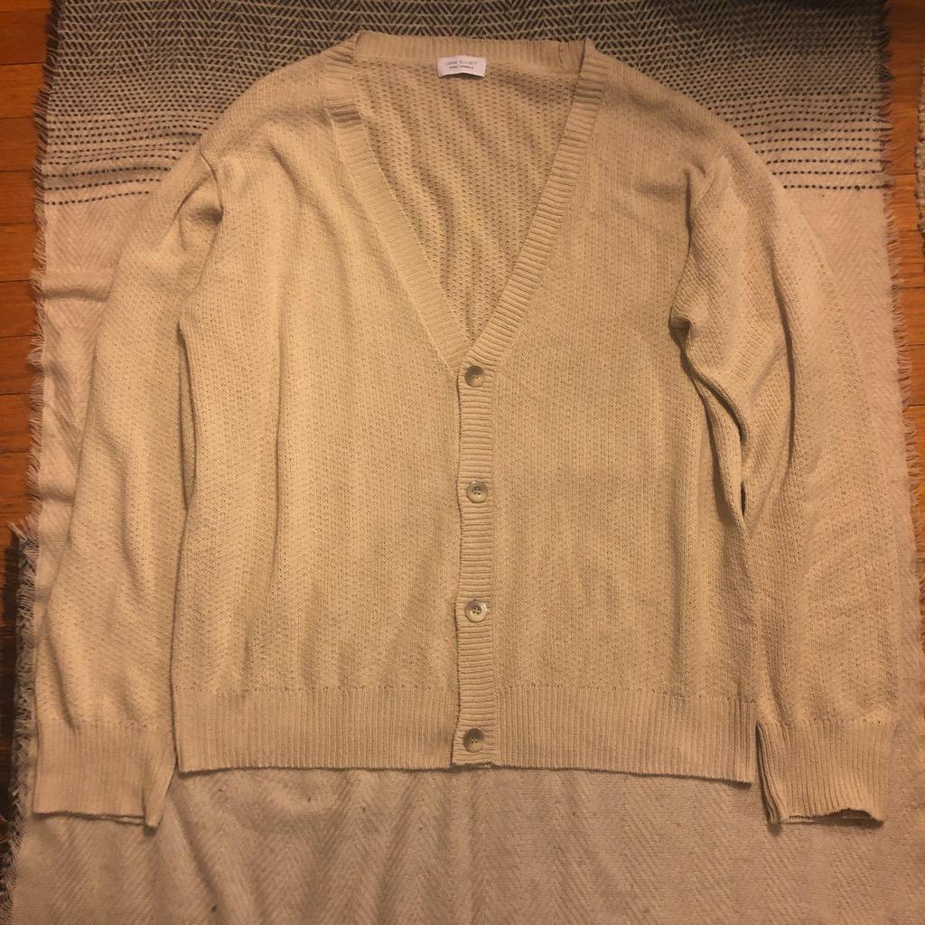 John Elliott silk cardigan in taupe in size 4.jpg