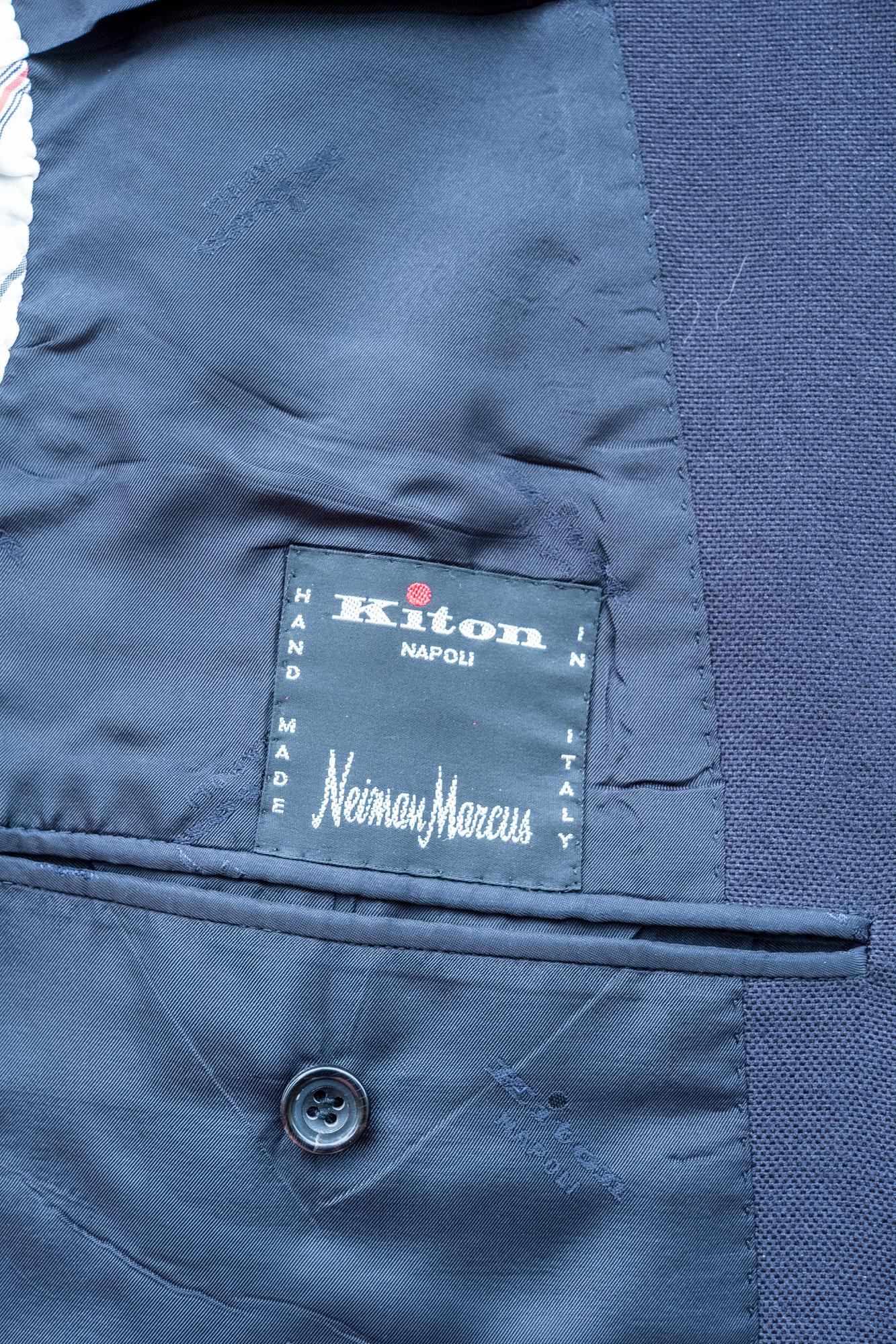 Kiton 52 R Cotton Blue Blazer-10.jpg
