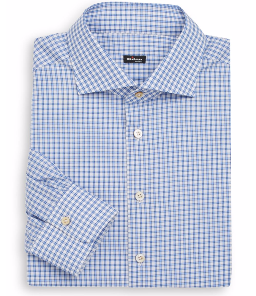 Kiton   Regular Fit Check Cotton Dress Shirt   saksoff5th.com.png