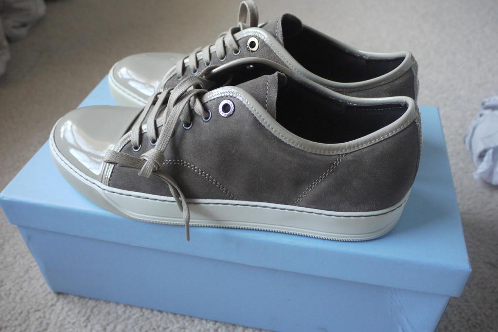 Size Bnib Lanvin Beige Sneakers Styleforum Patent Uk7 Cap Toe xqAUrqYw