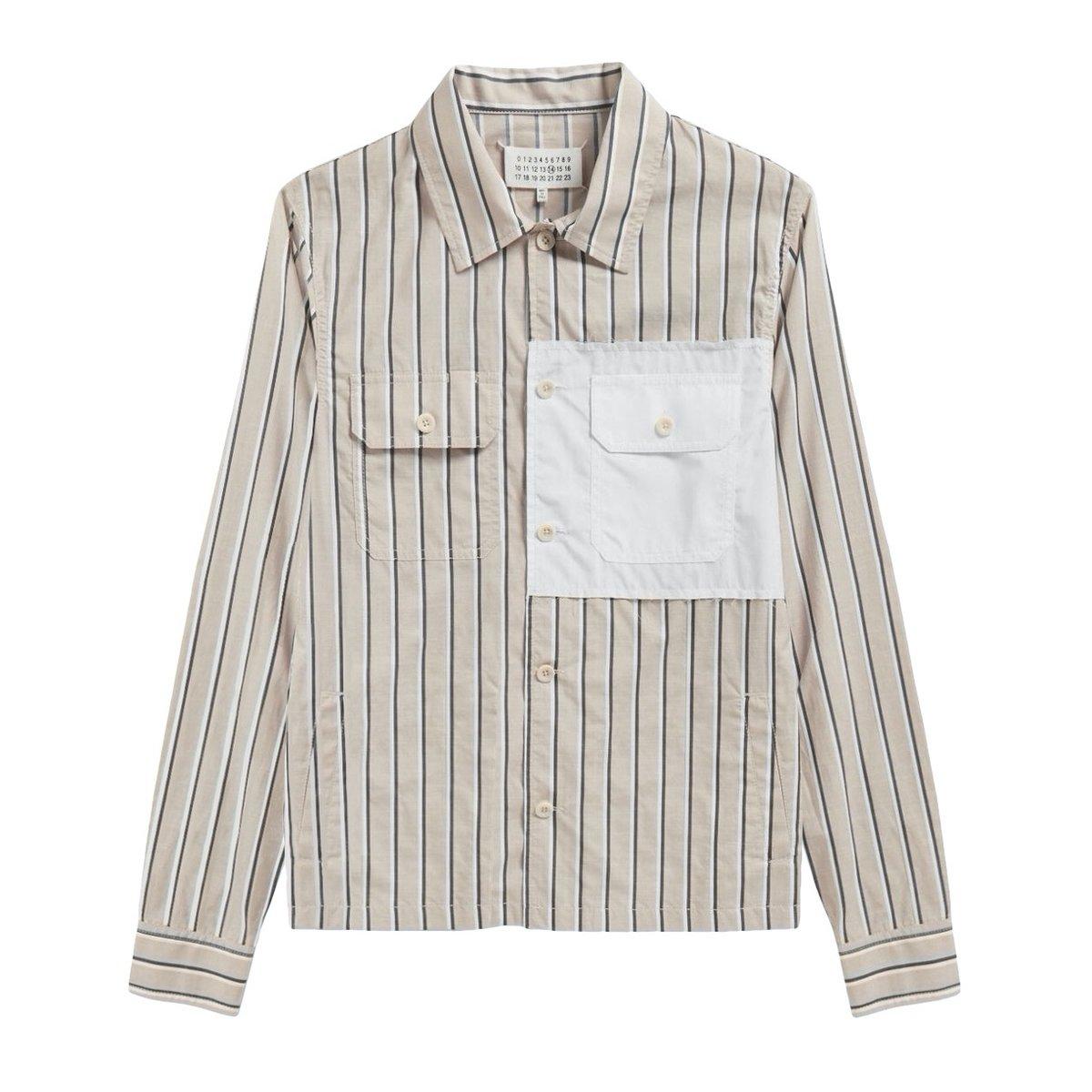 Maison Margiela Patch Striped Overshirt.jpg