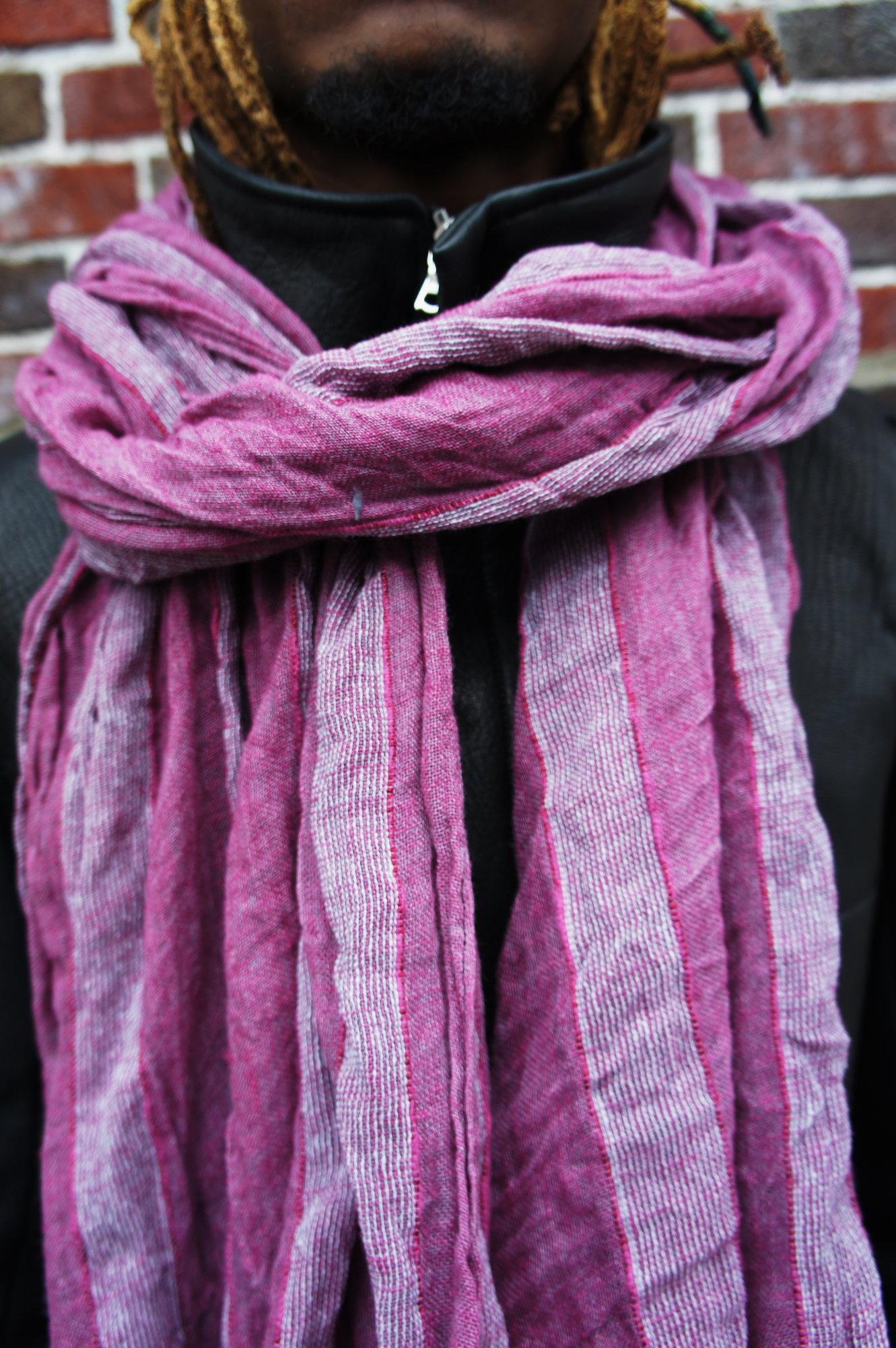 Maroon Stole Cotton Linen_1.JPG