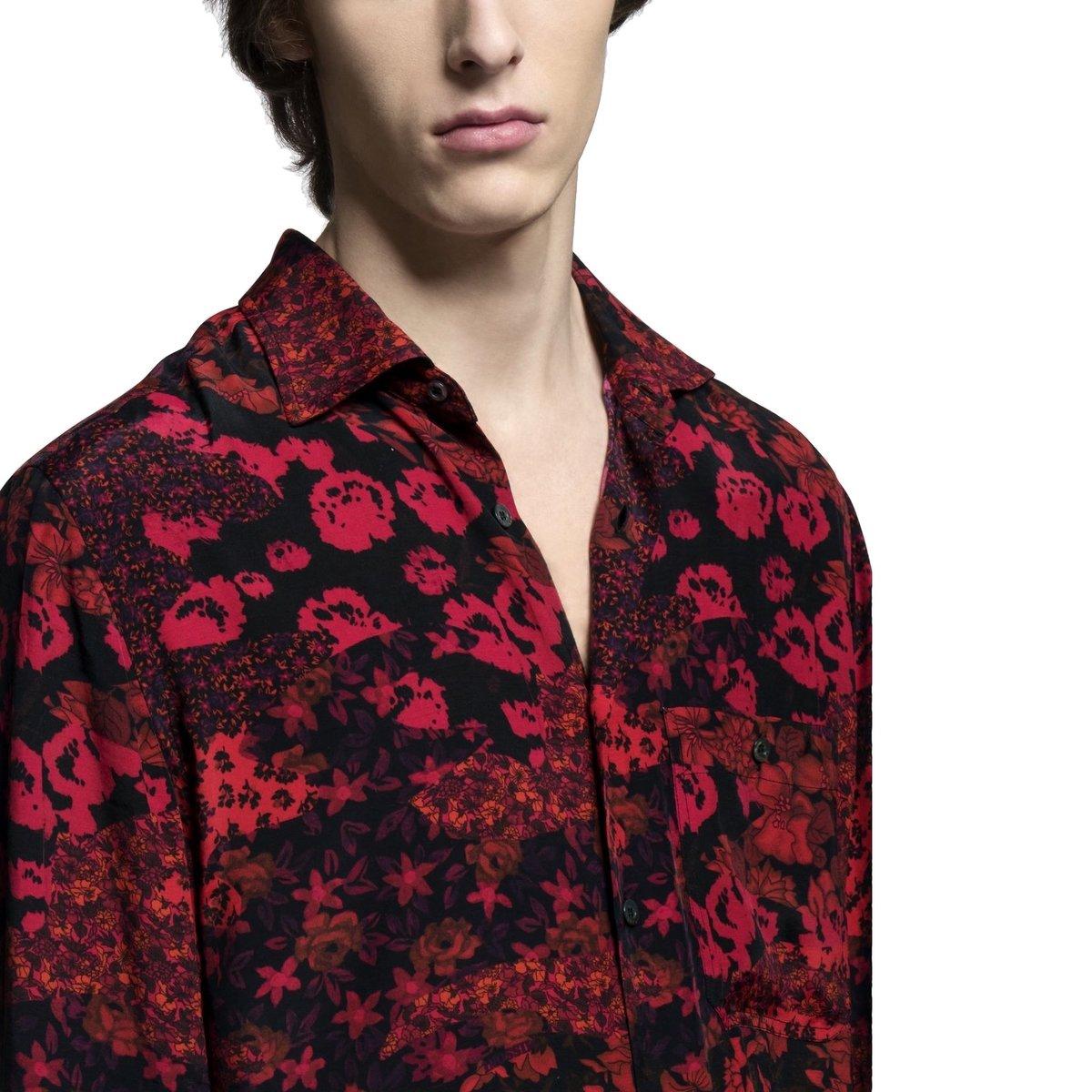 Missoni Red Floral Shirt Viscose 4.jpg