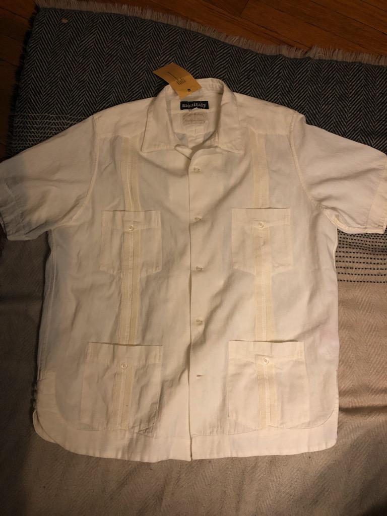 Monitaly Canul Manta Guayabera shirt in natural cotton in size 42.jpg