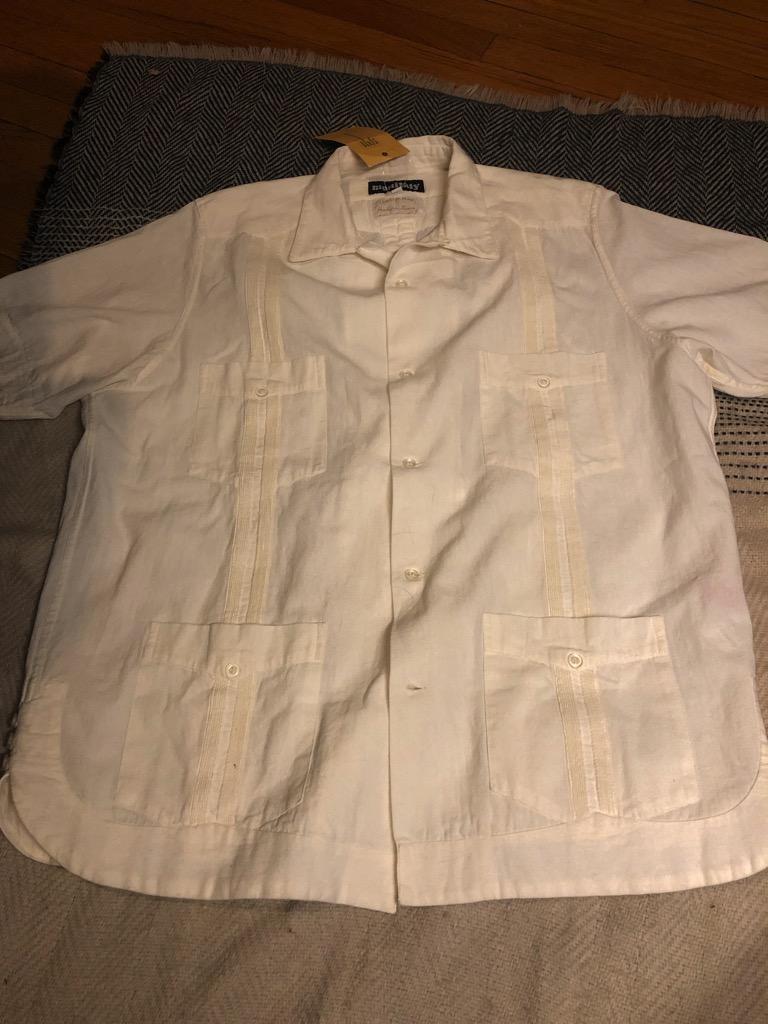 Monitaly Canul Manta Guayabera shirt in natural cotton in size 42_3.jpg