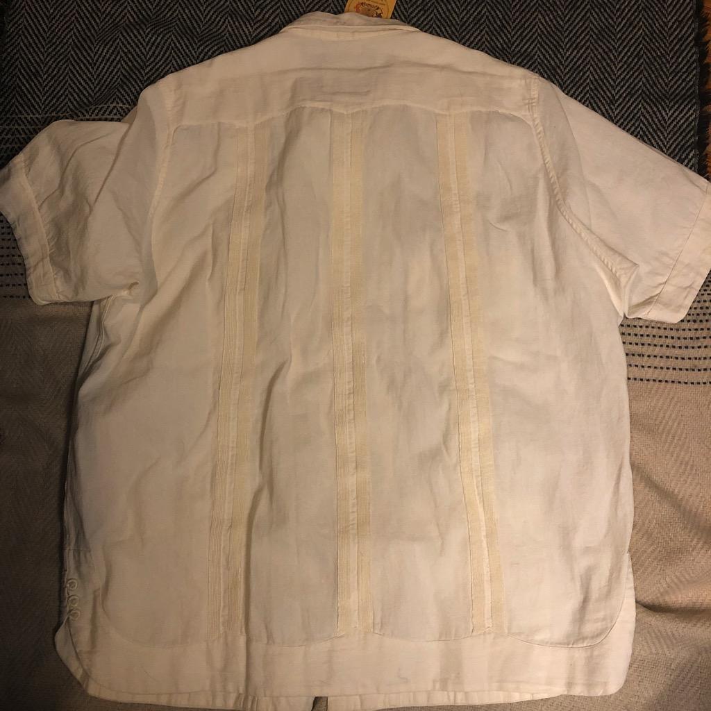 Monitaly Canul Manta Guayabera shirt in natural cotton in size 42_4.jpg