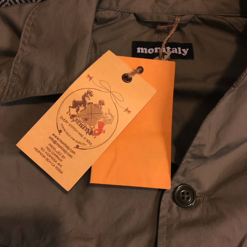 Monitaly cotton-poplin chore jacket:coverall in sage in size 42_2.jpg