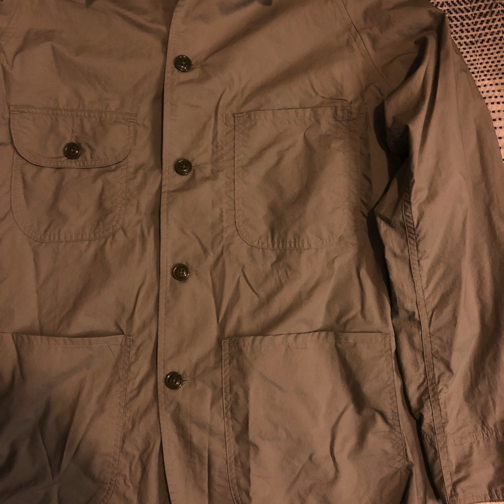 Monitaly cotton-poplin chore jacket:coverall in sage in size 42_3.jpg