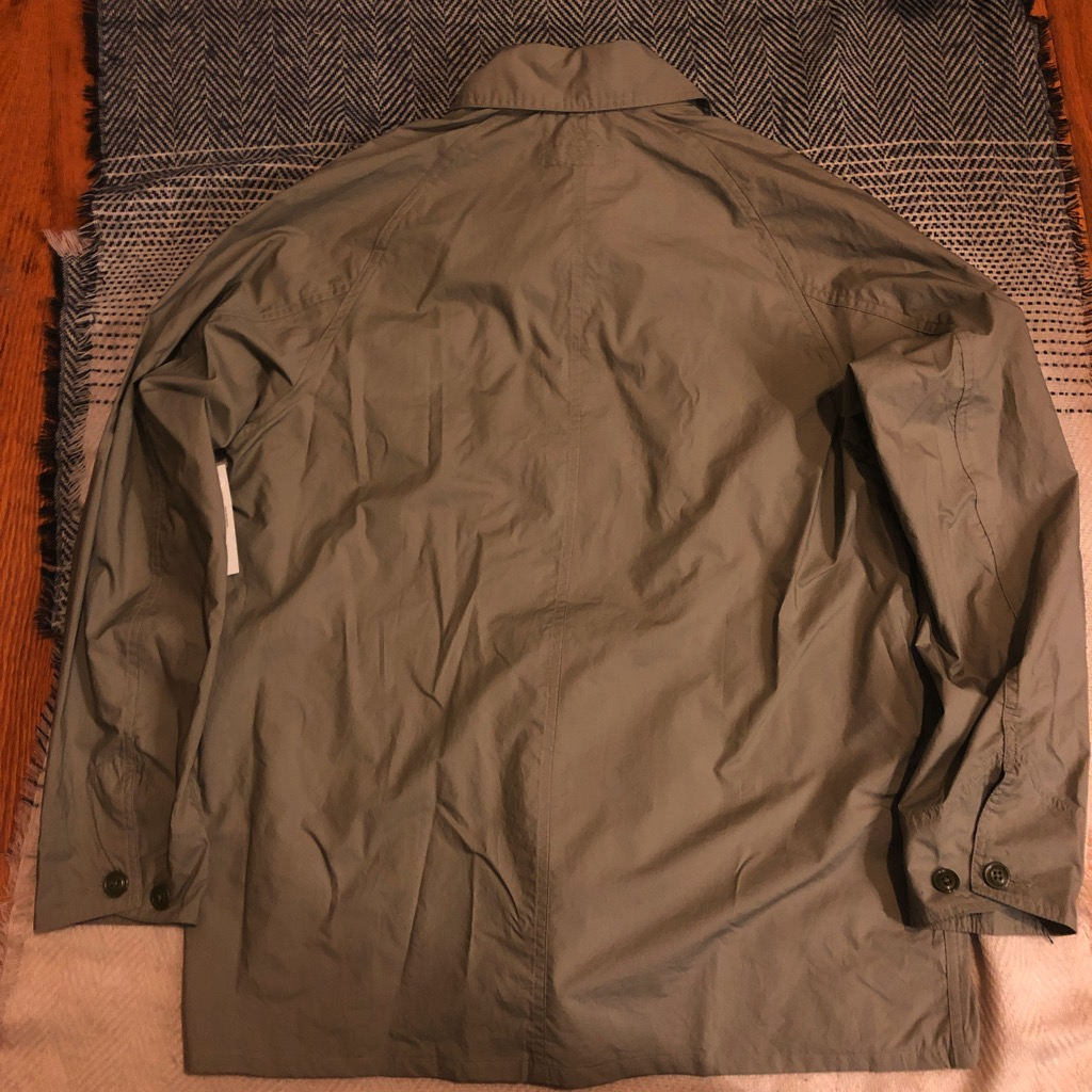 Monitaly cotton-poplin chore jacket:coverall in sage in size 42_4.jpg
