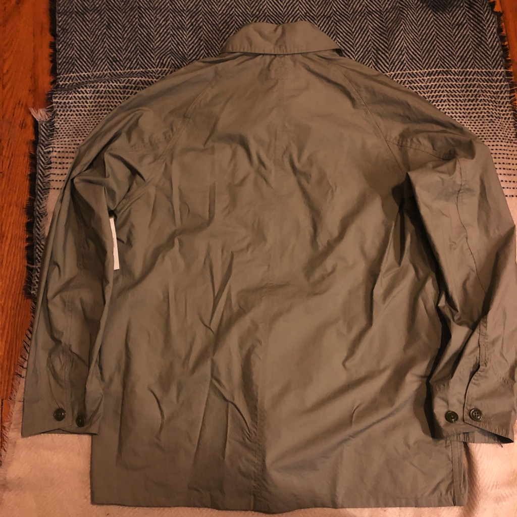 Monitaly cotton-poplin chore jacket:coverall in sage in size 42_7.jpg