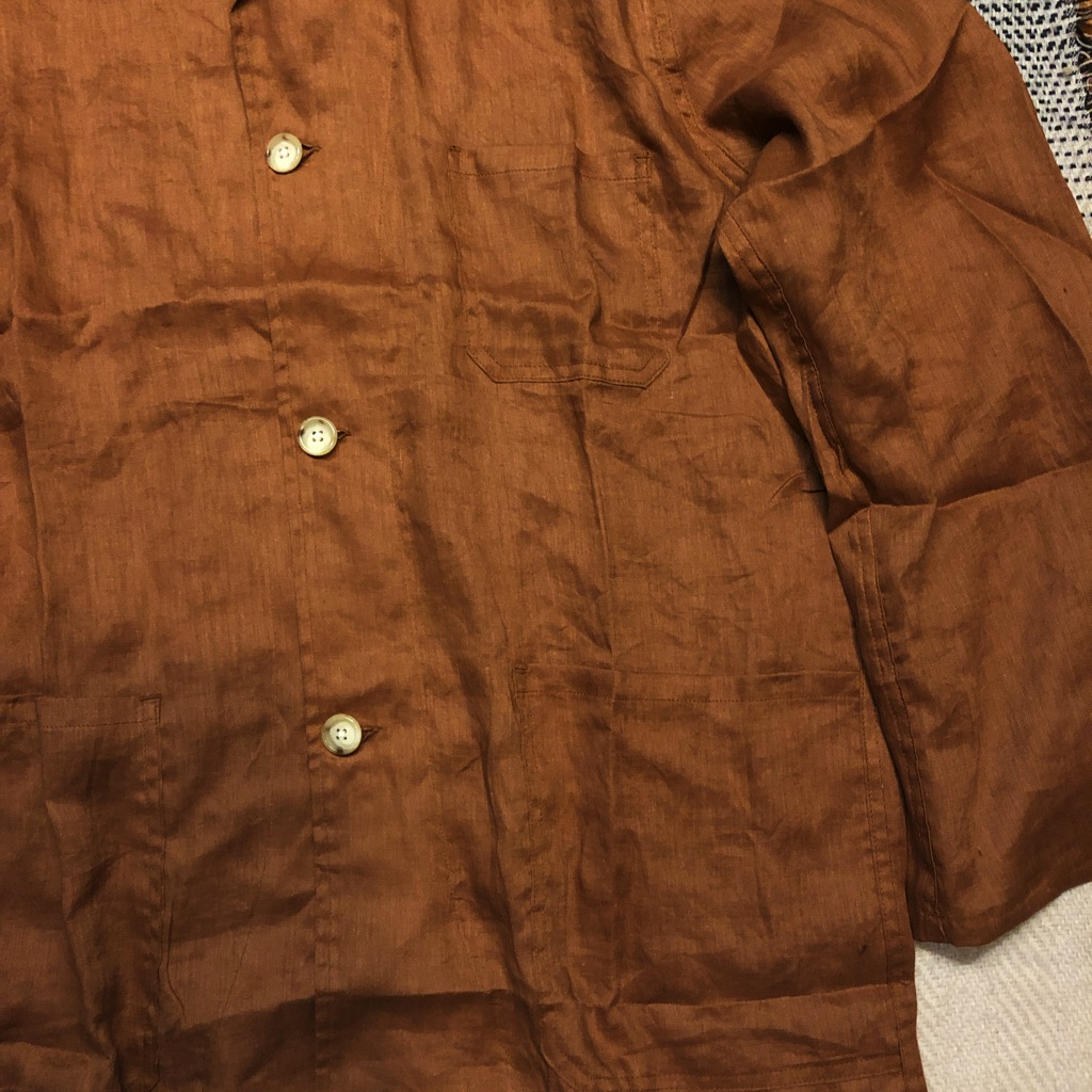 Monitaly linen shirt jacket (Italian jail jacket) in brown in size 42_2.jpg
