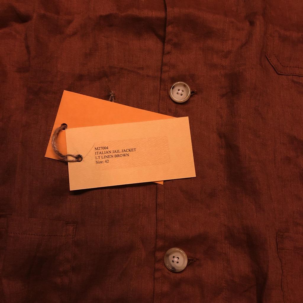 Monitaly linen shirt jacket (Italian jail jacket) in brown in size 42_3.jpg
