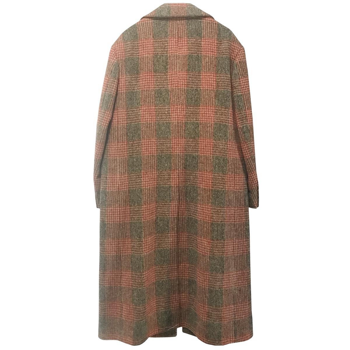 MP Massimo Piombo Red PrinceofWales Check Wool Coat b.jpg