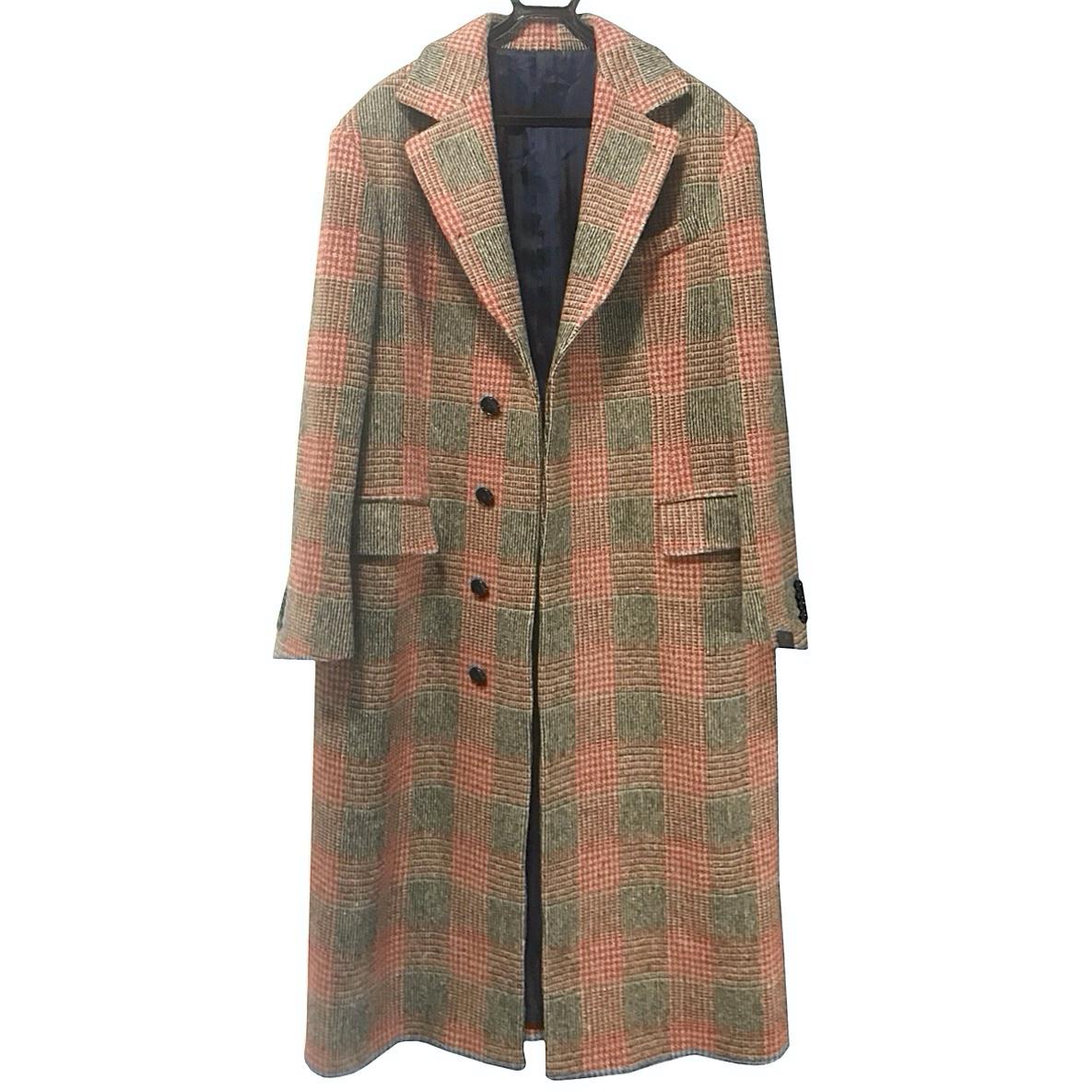 MP Massimo Piombo Red PrinceofWales Check Wool Coat.jpg