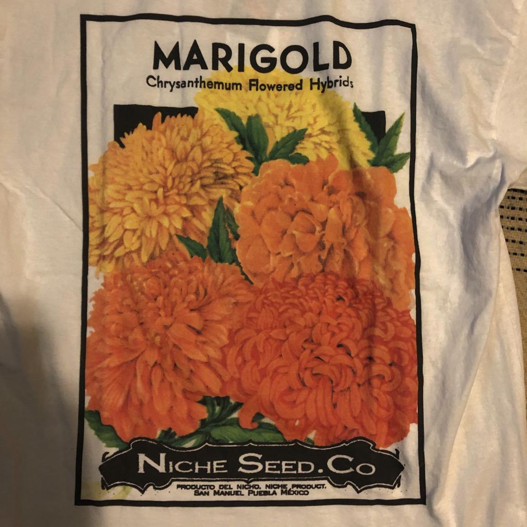 Niche marigold seed tee in white in size L_2.jpg