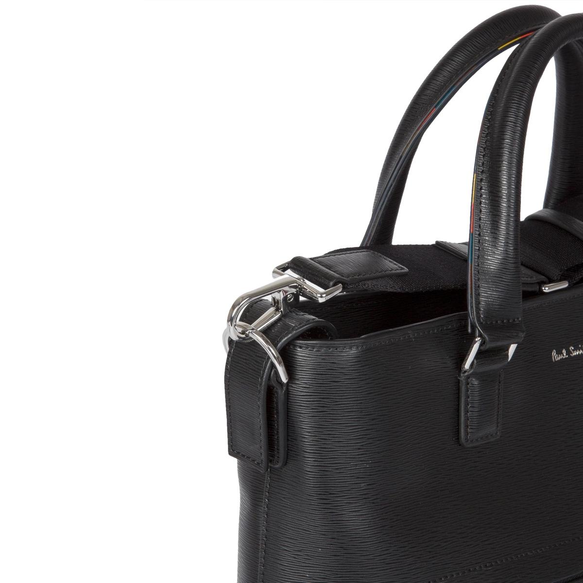 paul-smith-Black-Black-Embossed-Leather-Tote-Bag-With-bright-Stripe-Trim (5).jpg