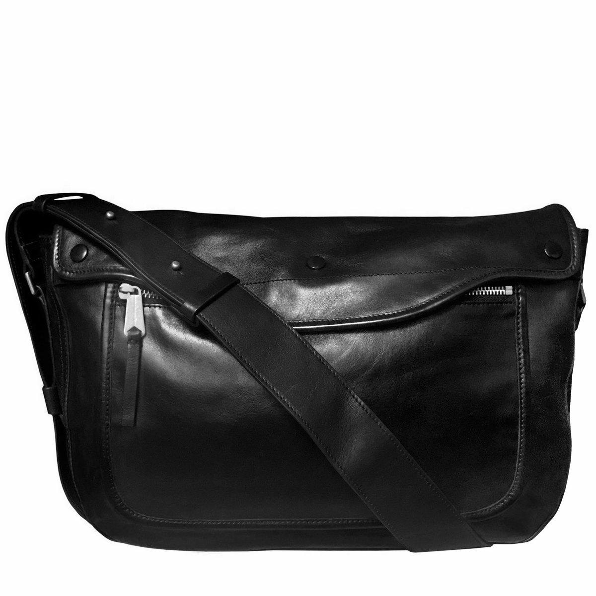 Paul Smith black leather messenger crossbody bag.jpg