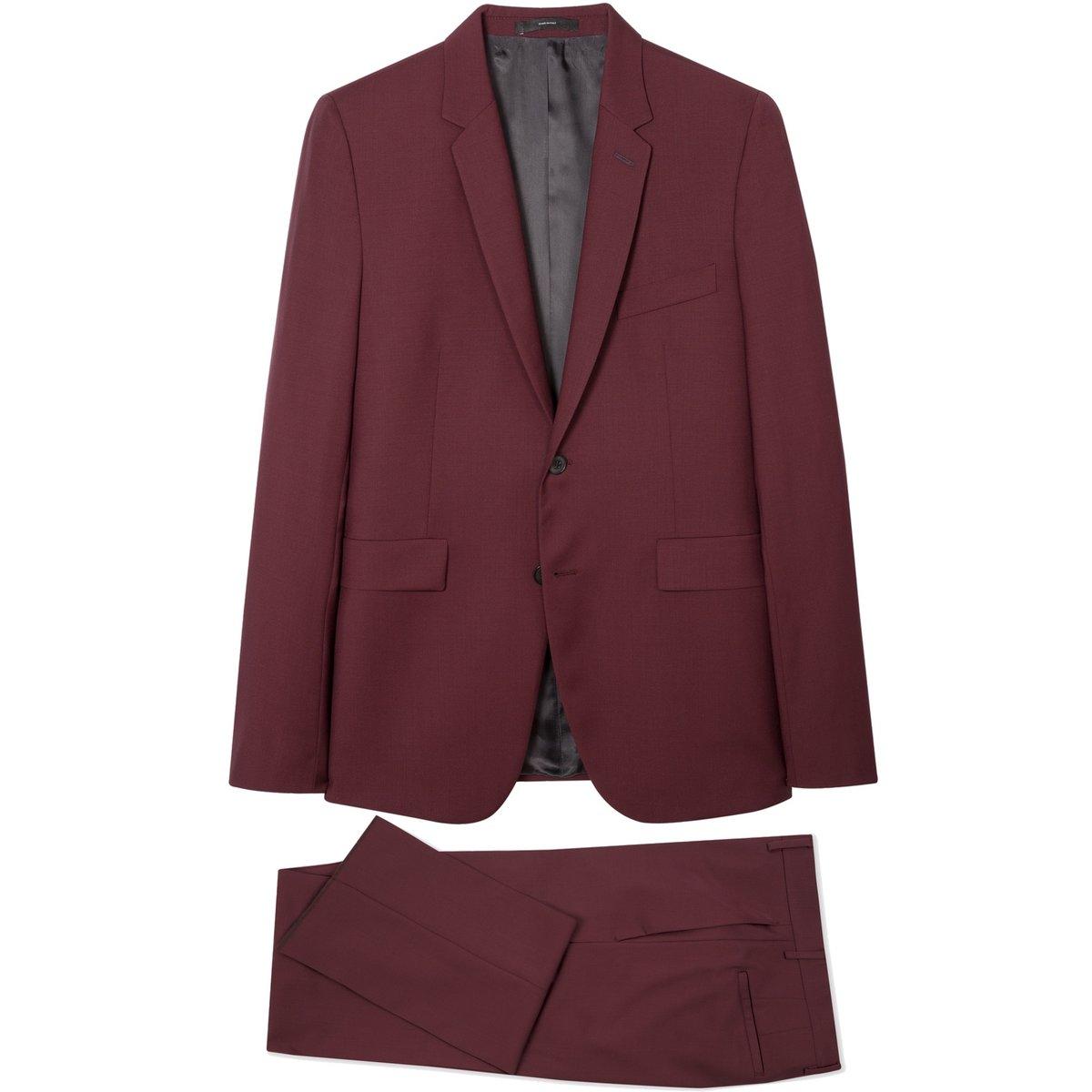 Paul Smith Kensington Slim Fit Wool Mohair Suit Dark Burgundy.jpg