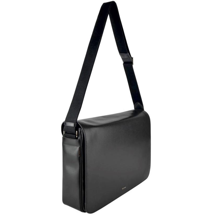 PAUL SMITH New City Messenger Bag Black side.jpg