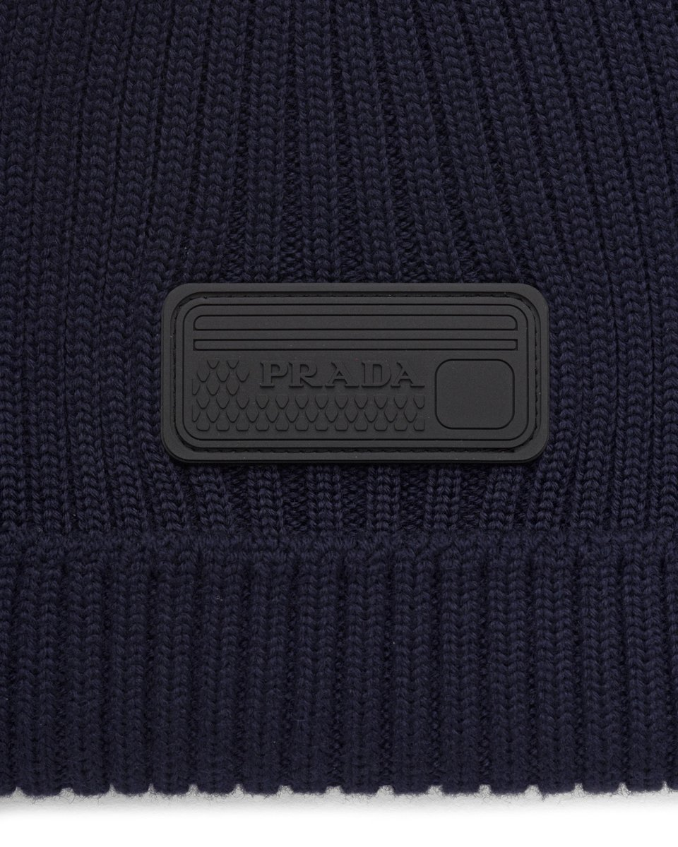 Prada Logo Badge Wool Beanie detail.jpg