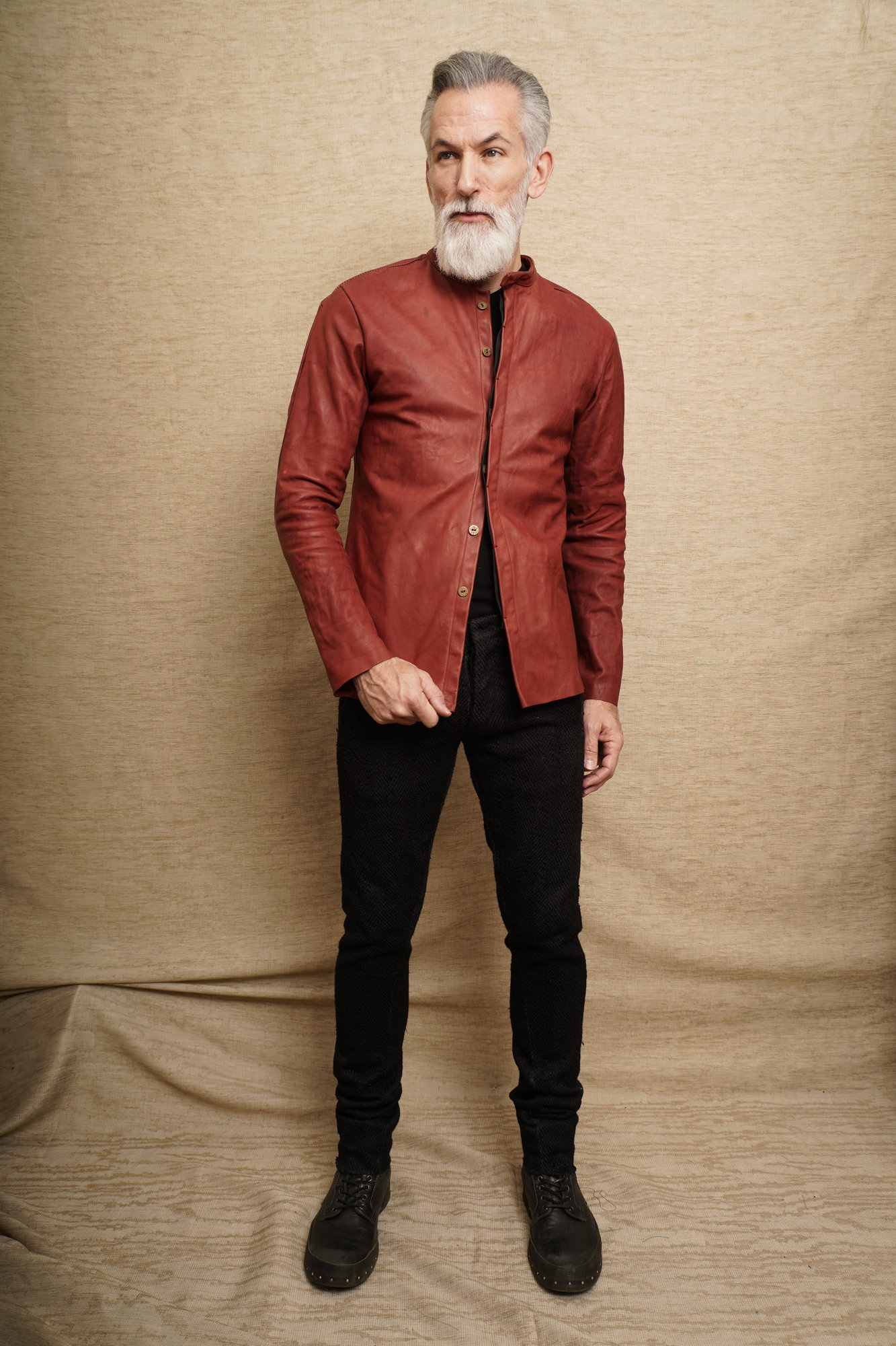 Raglan front leather shirt_4.JPG