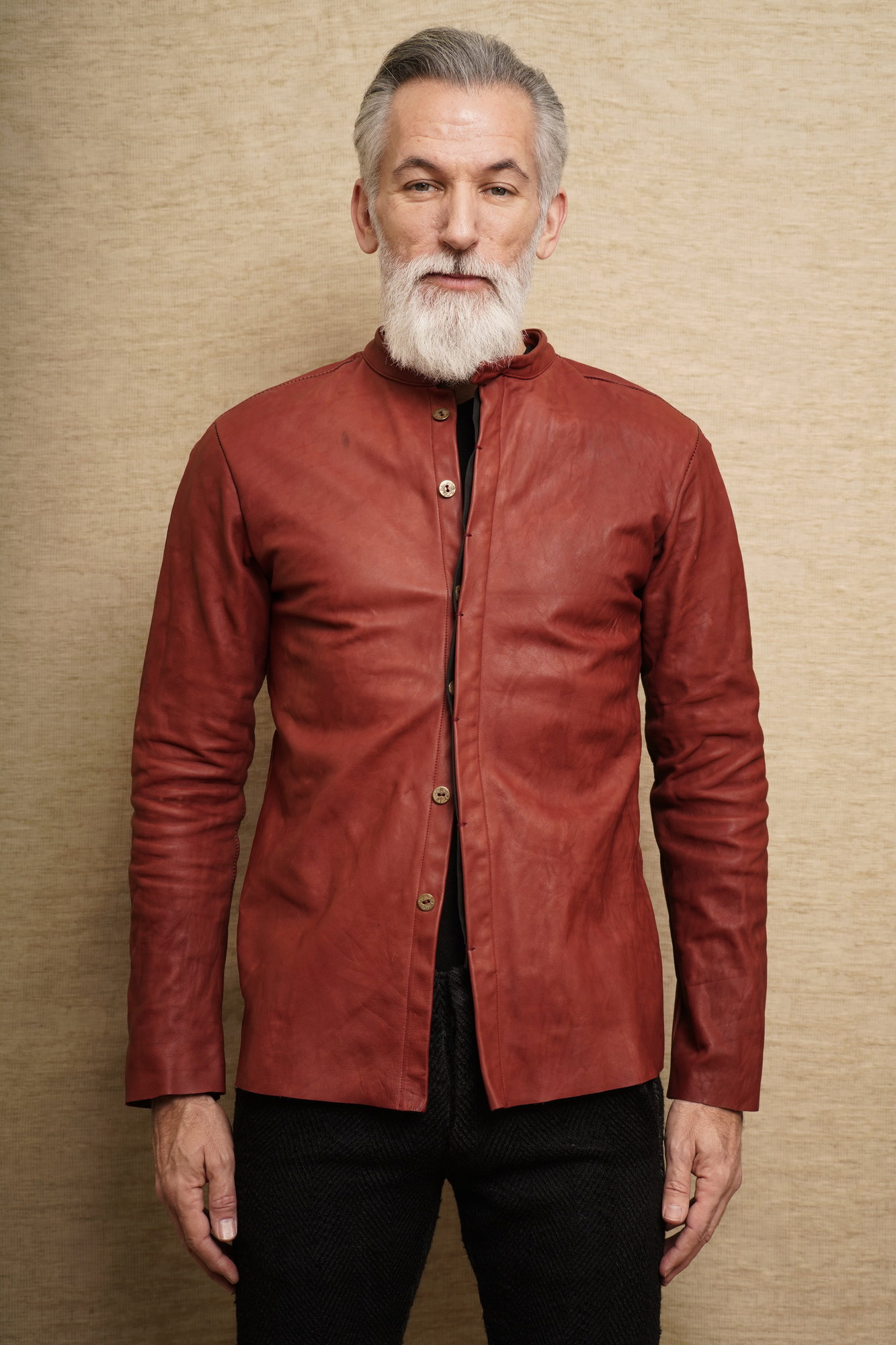 Raglan front leather shirt_5.JPG