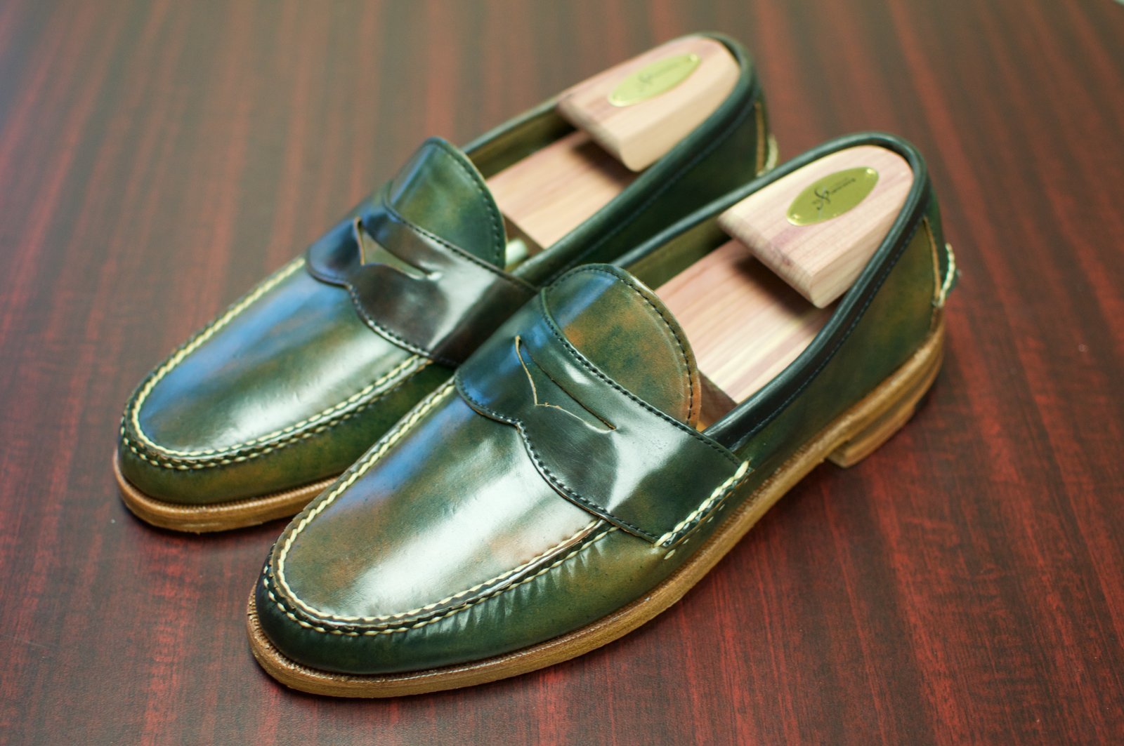 Rancourt Black Marbled Shell Cordovan Penny Pinch Loafers - 2019-12-09 - 1.jpg