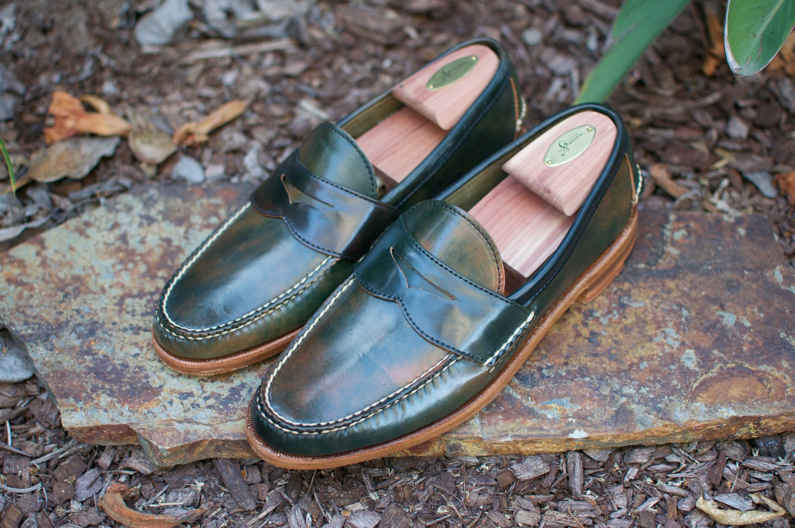 Rancourt Black Marbled Shell Cordovan Penny Pinch Loafers - 2020-05-23 - 1.jpg