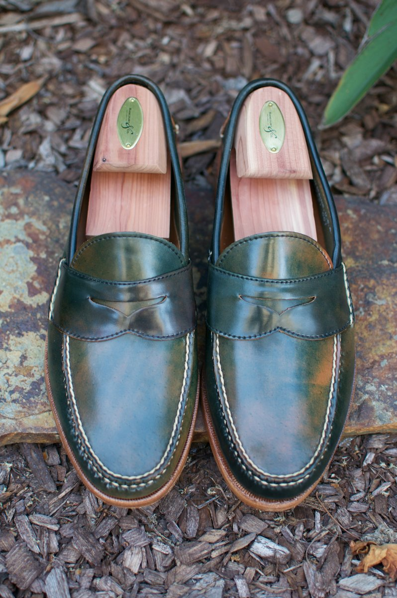 Rancourt Black Marbled Shell Cordovan Penny Pinch Loafers - 2020-05-23 - 3.jpg