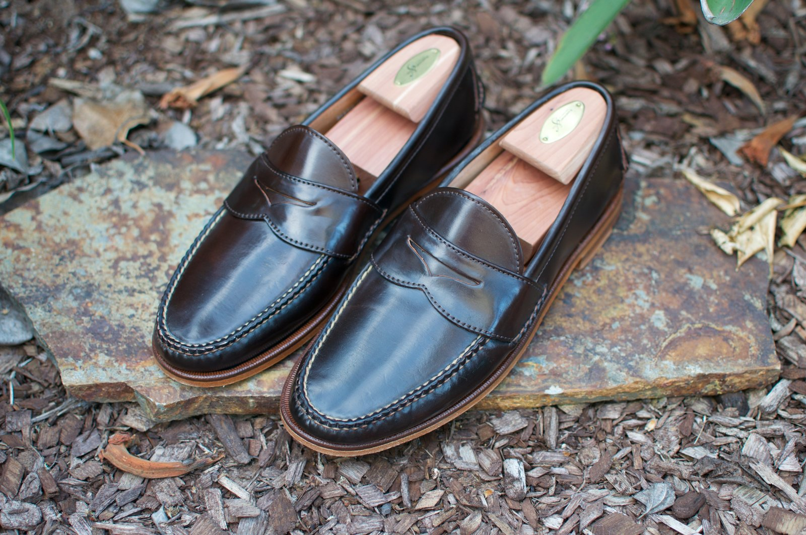 Rancourt Brown Shell Cordovan Penny Pinch Loafers - 2020-05-15 - 1.jpg