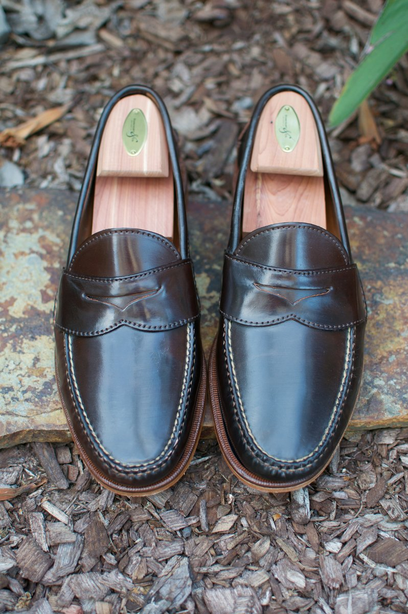 Rancourt Brown Shell Cordovan Penny Pinch Loafers - 2020-05-15 - 2.jpg